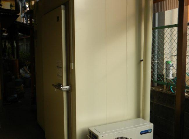 静岡県伊東市の某豆腐屋|プレハブ冷蔵庫の新設工事