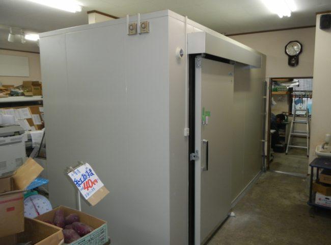神奈川県南足柄郡の某八百屋 プレハブ冷蔵庫の新設工事