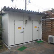 神奈川県逗子市の某焼肉店|屋外にプレハブ冷凍・冷蔵庫を新設工事