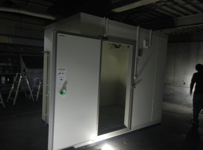 神奈川県横浜市磯子区の某食品卸会社|プレハブ冷凍庫の新設工事