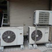 神奈川県横浜市中区の某生花店 プレハブ冷蔵庫2棟の移設工事