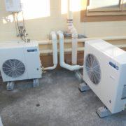 横浜市南区の某ファミレス|プレハブ冷凍・冷蔵庫の冷却機器の入れ替え工事