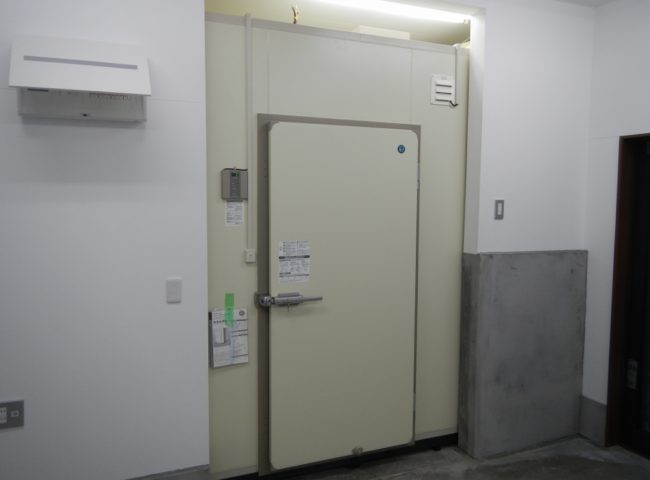 横浜市青葉区の業務用の問屋 プレハブ冷蔵庫の新設工事