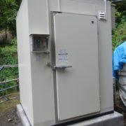ホシザキ製のプレハブ冷凍庫