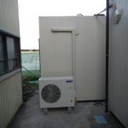 【ホシザキ製】業務用プレハブ冷凍庫の組み立て|神奈川県横須賀市走水の漁師の現場にて新設工事
