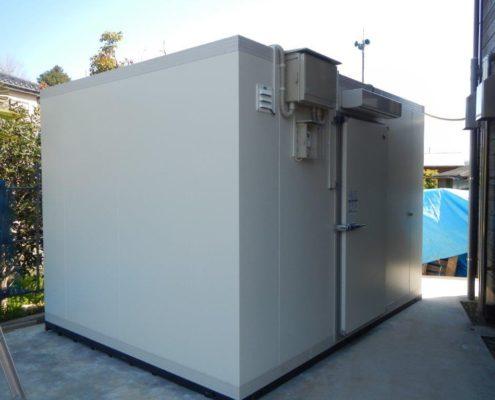 プレハブ冷凍庫の新設工事