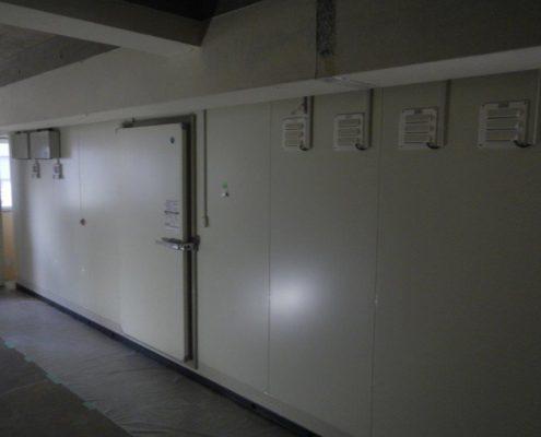 業務用プレハブ冷蔵庫の移設工事